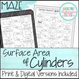 Surface Area of Cylinders Worksheet - Maze Activity
