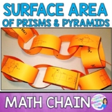 Surface Area of Nets Math Chain