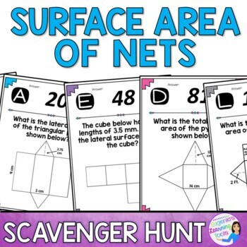 Surface Area of Nets Scavenger Hunt Activity