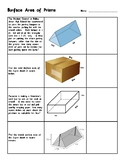 Surface Area of Prisms