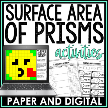 Surface Area of Prisms Activity Pack