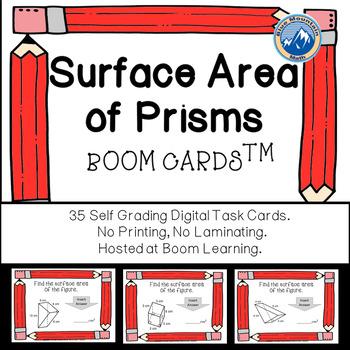 Surface Area of Prisms Boom Cards--Digital Task Cards