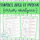 Surface Area of Prisms Error Analysis