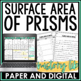 Surface Area of Prisms Mistory Lib Activity