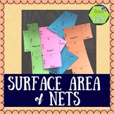 Surface Area of Prisms Nets