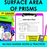 Surface Area of Prisms Notes