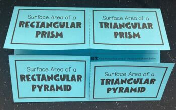 Surface Area of Prisms & Pyramids (Foldable)