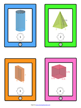 Surface Area of Prisms, Pyramids and Cylinders 7.G.4, 7.G.B.4, 7.G.6, 7.G.B.6