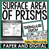 Surface Area of Prisms Reference Sheets and Posters | Distance Learning