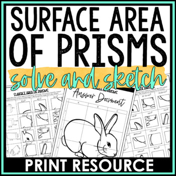 Surface Area of Prisms Solve and Sketch