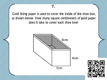 Surface Area of Prisms - Task Cards with QR Codes