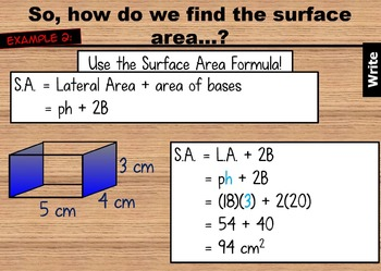 Surface Area of Prisms and Cylinders PowerPoint