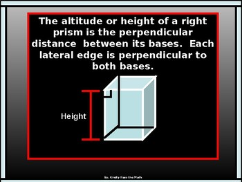 Geometry Power point:  Surface Area of Prisms and Cylinders with GUIDED NOTES