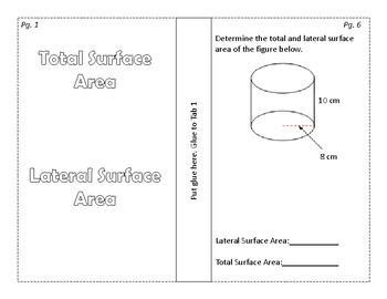 Surface Area of Prisms and Cylinders Foldable/Graphic Organizer