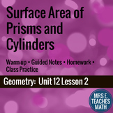 Surface Area of Prisms and Cylinders Lesson