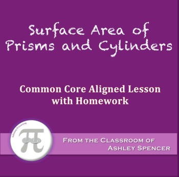 Surface Area of Prisms and Cylinders (Lesson with Homework)