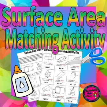 Surface Area of Prisms and Pyramids Matching Activity