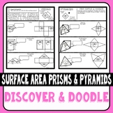 Surface Area of Prisms and Pyramids Using Nets Discover & Doodle