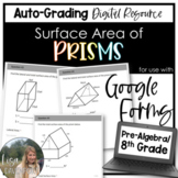 Surface Area of Prisms- for use with Google Forms
