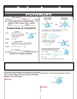 Surface Area of Pyramids