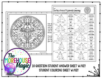 Surface Area of Pyramids Coloring Page