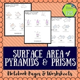 Surface Area of Pyramids & Prisms