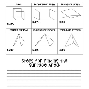 Surface Area Of Pyramids Prisms By Room 125 Teachers Pay Teachers