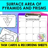 Surface Area of Pyramids & Prisms Task Cards