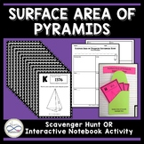 Surface Area of Pyramids Scavenger Hunt or Interactive Not