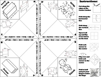 Surface Area of Rectangular Prisms Practice Activity (Scoot Unit Review Game)