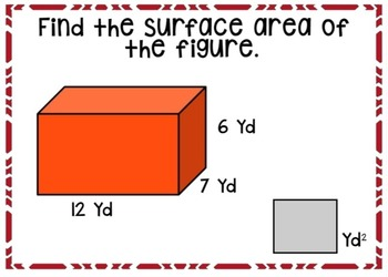 Surface Area of Rectangular Prisms Boom Cards