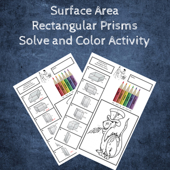 Surface Area of Rectangular Prisms Coloring Activity