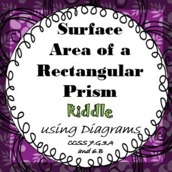 Finding Surface Area of Rectangular Prisms RIDDLE Activity