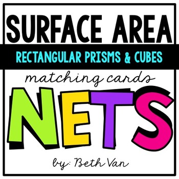 Surface Area of Rectangular Prisms & Cubes Using Nets Matching Game