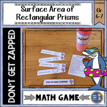 Surface Area of Rectangular Prisms Don't Get ZAPPED Math Game