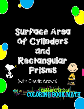 Surface Area of Rectangular Prisms and Cylinders Coloring Book Math