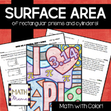 Surface Area of Rectangular Prisms and Cylinders Math with Color!