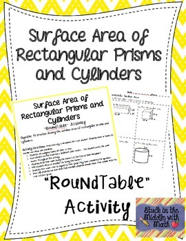 Surface Area of Rectangular Prisms and Cylinders RoundTable