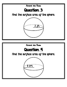 Surface Area of Spheres Around the Room
