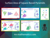 Surface Area of Square Based Pyramids