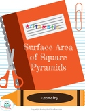 Surface Area of Square Pyramids (Nets) Digital Lesson for Distance Learning