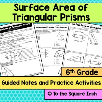 Surface Area of Triangular Prisms Notes