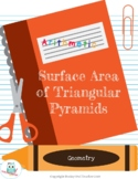 Surface Area of Triangular Pyramids (Nets) Lesson