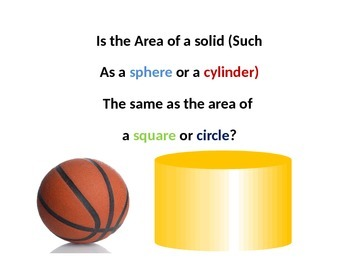 Surface Area of a Cylinder Presentation