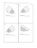 Surface Area of a Triangular Prism Task Cards