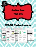 Surface Area (total and lateral) - STAAR REVIEW LESSON - TEKS 8.7B