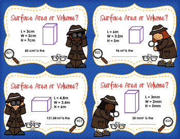 Surface Area vs Volume: Prisms and Cylinders -- Situation Sort Cards!