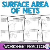 Surface Area with Nets Worksheet Practice