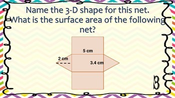 Surface Area with Nets Task Cards