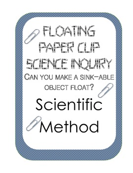 Surface Tension Scientific Method Inquiry Experiment: Floa